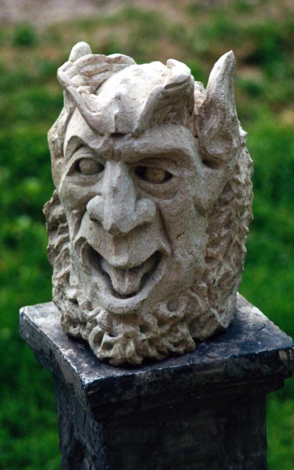 Abe head old world stone carving