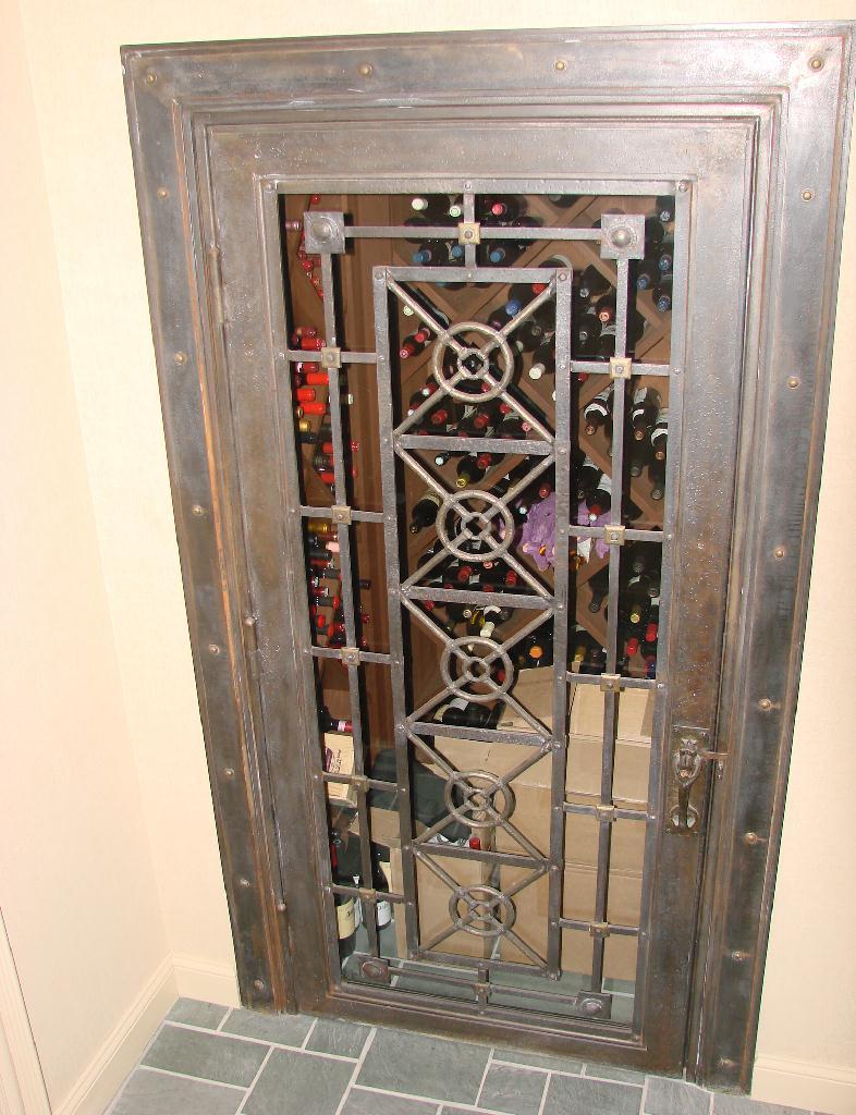 Kidder Wine Cellar Door Old World Stone Carving