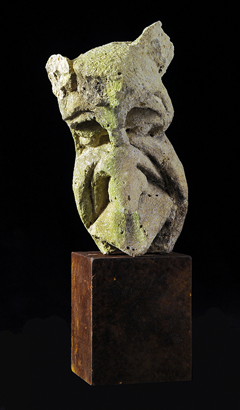 Head old world stone carving