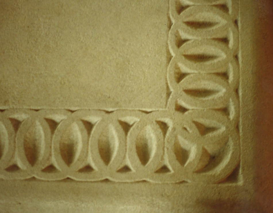 "Original Design by Dale JohnsonBronze, Copper, Patina, Carved Indiana Limestone50"" x 36"" x 18"""