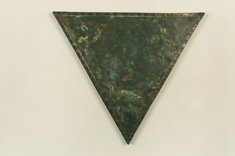 "Bronze over Wood, Copper, Patina24"" x 24"" x 1 1/2"""