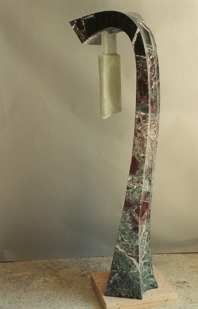 """Marble, Chiselled Pyrex Glass78"""" x 22"""" x 22"""""""