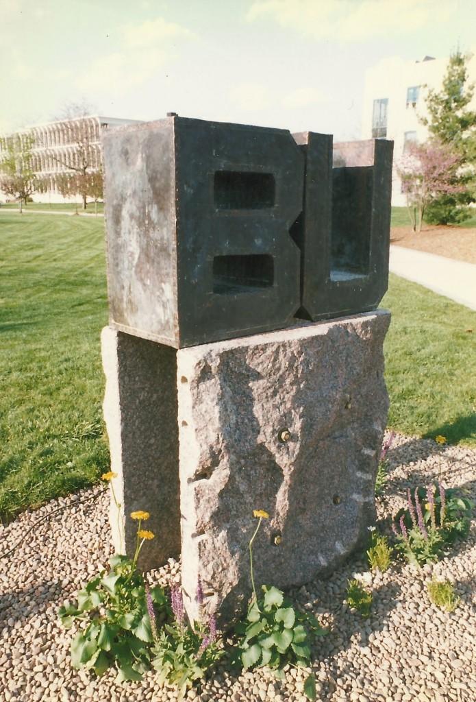 Bronze over Wood, Granite, Steel