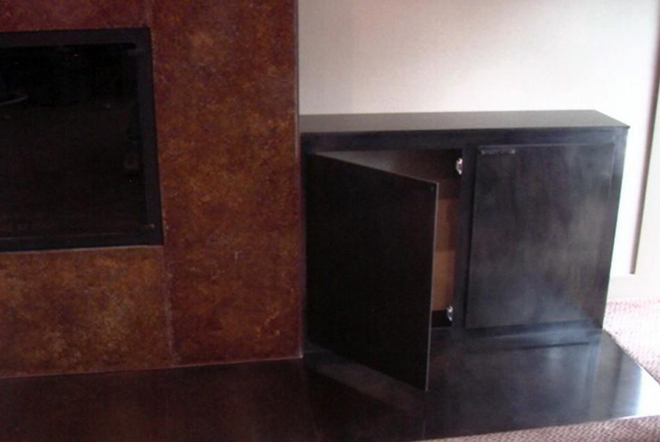 Original Design by Dale JohnsonBronze over Wood, Patina, Blackened Steel