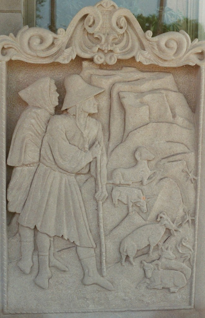 Indiana LimestoneBased on a fresco by the early Rennaissence painter Giotto.