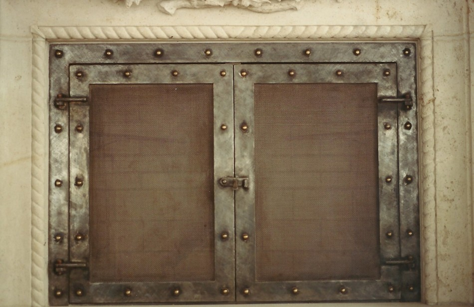 Hufford Fireplace Doors | Old World Stone Carving