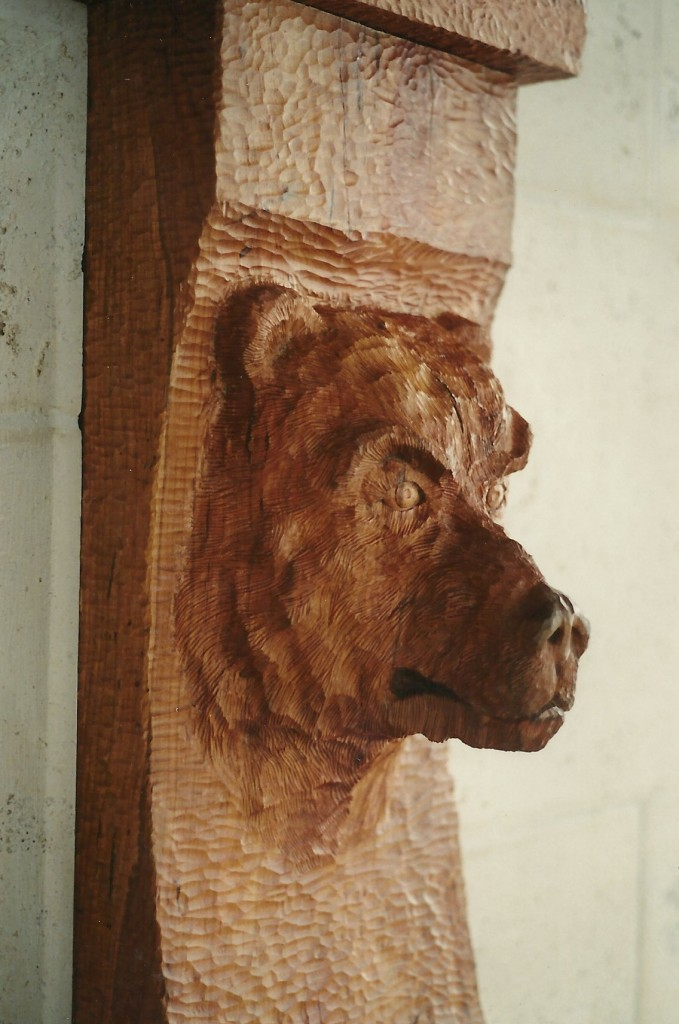 Original Design by Dale JohnsonKansas Limestone, Cherry Wood, Bronze over Wood, Patina, Steel