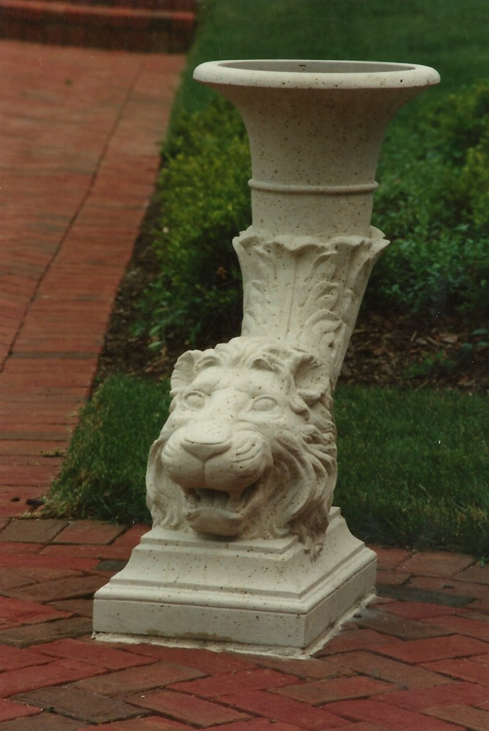 Kansas Limestone, GraniteHeads carved by Matthew Palmer in association with Old World Stone Carving.