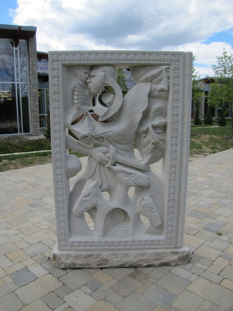 """Mythical Creatures Indiana Limestone 8'-0"""" x 5'-10"""" x 12"""""""