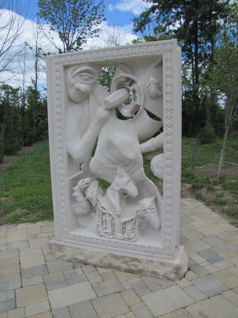 "Mythical Creatures Indiana Limestone 8'-0"" x 5'-10"" x 12"""