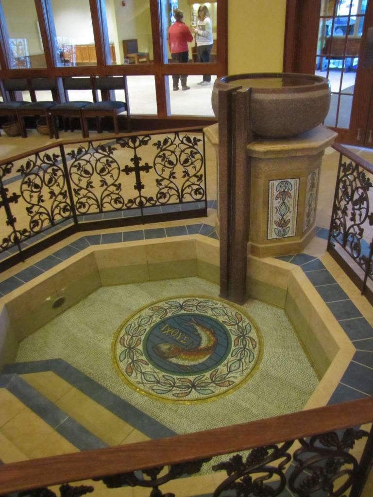 """St. John's Baptismal Font Granite 5' x 30"""" x 37"""""""