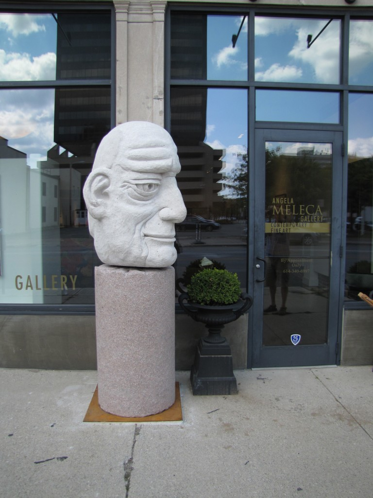 "Downtown Head Granite, Limestone, Steel, Bearing 7'-6"" x 3' x 3'"