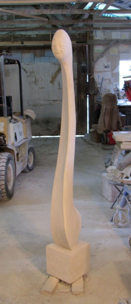 Long Face Texas Leuders Limestone 7' x 1' x 2'