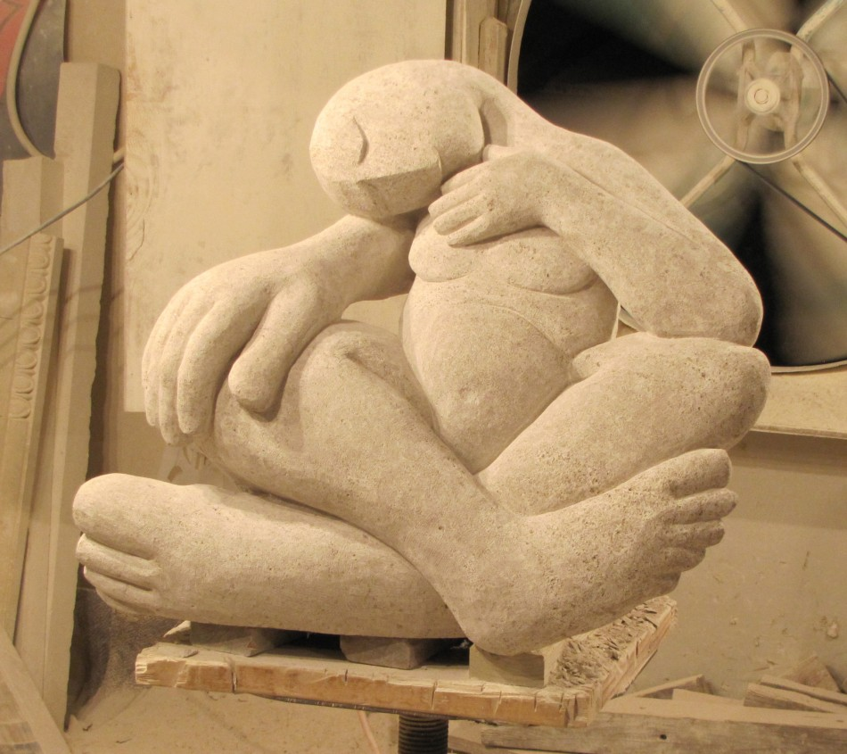 "Sleeping Beauty Indiana Limestone 36"" x 30"" x 30"""