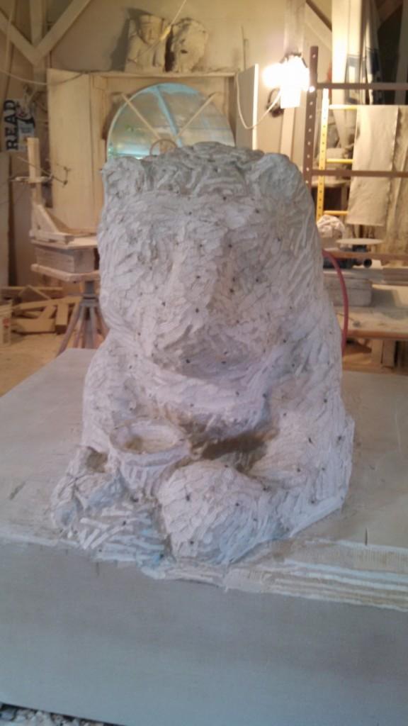 "Indiana Limestone 36"" x 36"" x 34"""