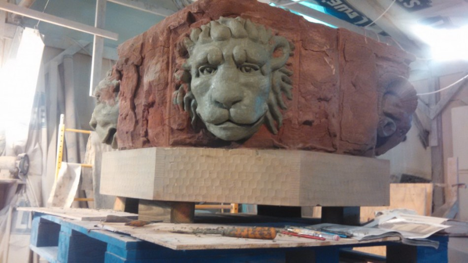 The lion was the hardest. Not having the eyes made getting the expression a challenge.