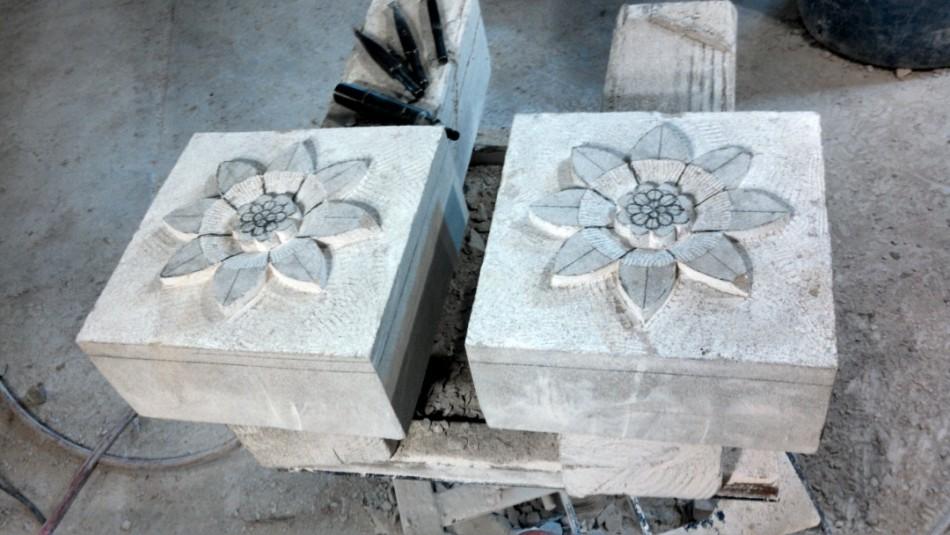 "Indiana Limestone 10"" x 10"" x 5"""