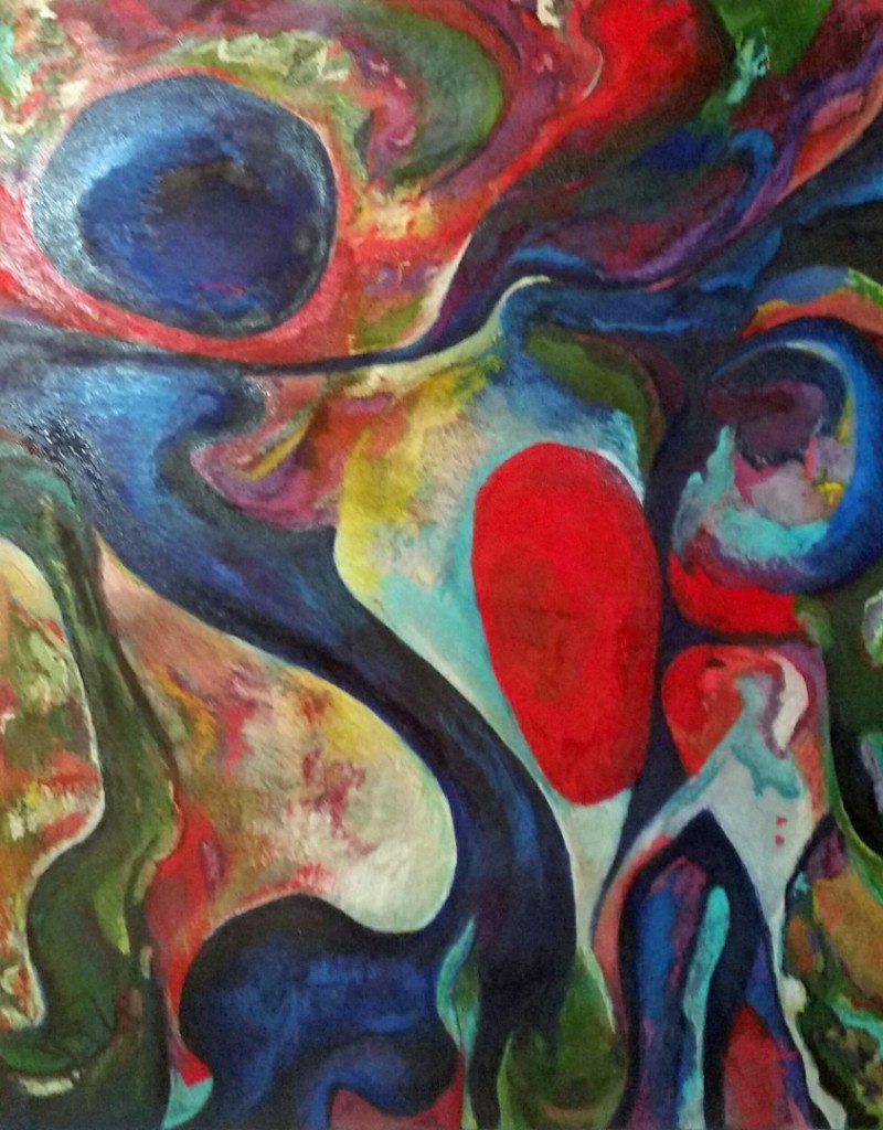 """40"""" x 50"""" Pastel and Oil on Canvas over a wood armature"""