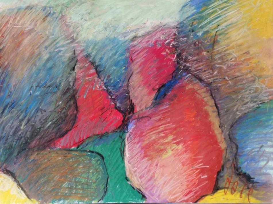 "Pastel on Paper 18"" x 24"""