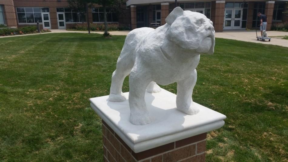 "Indiana Limestone, 3' x 4' x 30"" Mascots are always fun."