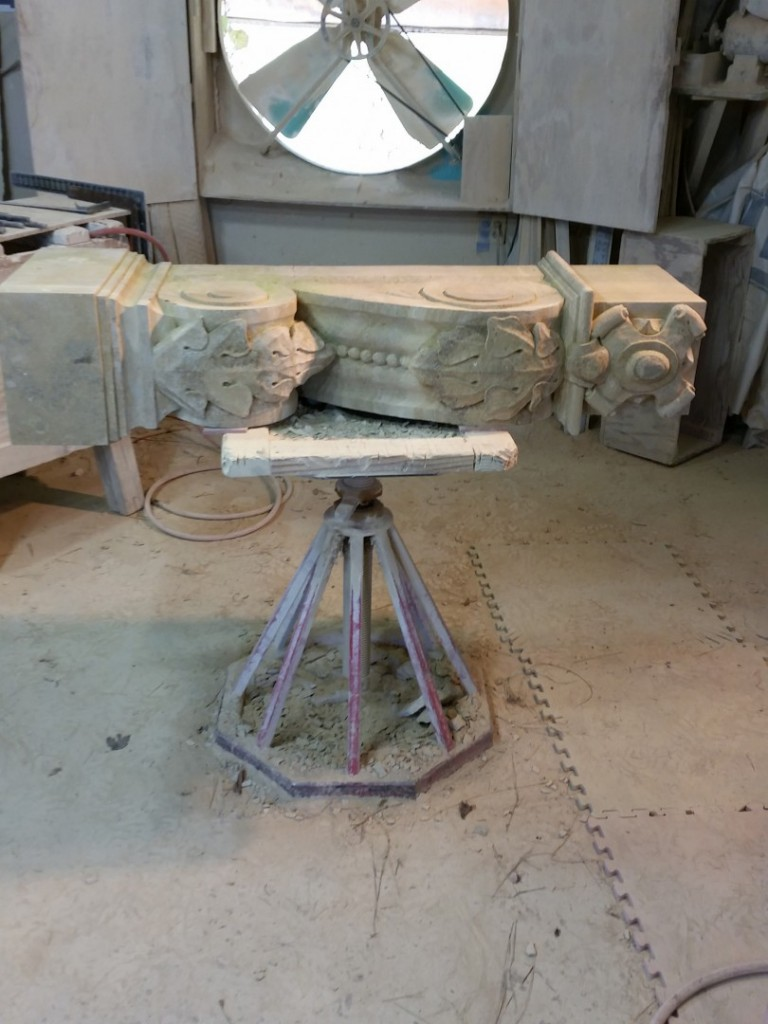 "Texas Carmel Lueders Limestone, 10 x 18"" x 8' Installed. twelve plus hours of installing."