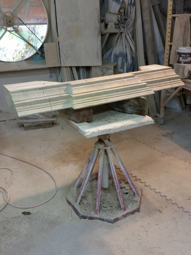 Texas Carmel Lueders Limestone I send my client's process shots as I go. This is the mantle, as it looked the day I finished it.