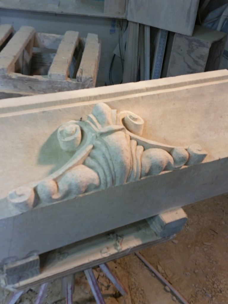 Texas Carmel Lueders Limestone This is the crown, and one of the last pieces I finished before the delivery.