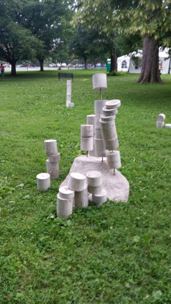 Cast concrete, Steel, Dimensions Variable, public performance with public involvement.