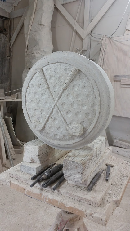 Williams rosettes old world stone carving
